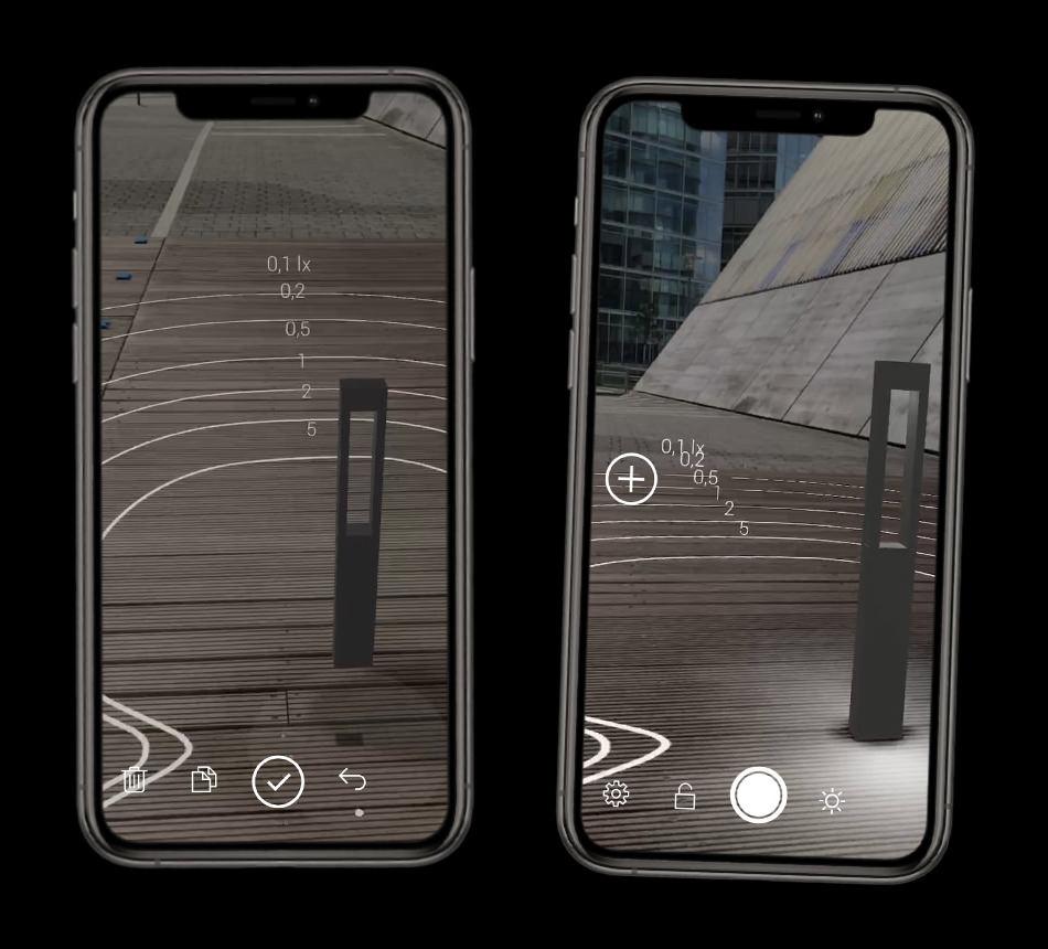 BEGA Gantenbrink-Leuchten AR+ Augmented Reality App iOS iPhones - Garden & pathway luminaire + Light distribution