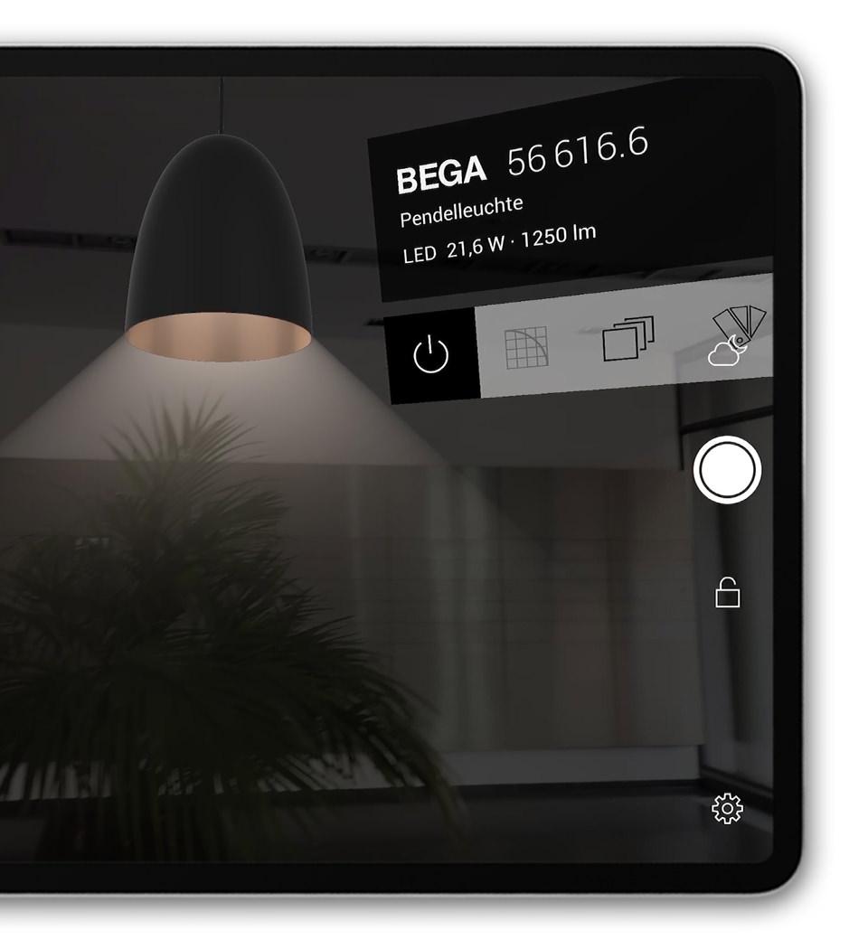 BEGA Gantenbrink-Leuchten AR+ Augmented Reality App iOS iPad Pendant Luminaire Light
