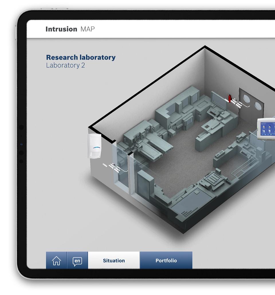 Bosch Sicherheitssysteme GmbH - Intrusion Realtime 3D App iPad - MAP Research Laboratory