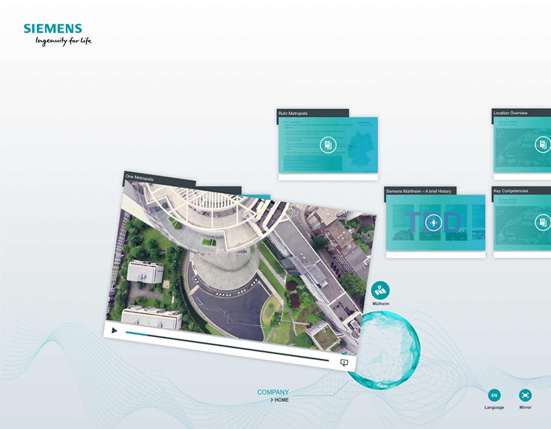Siemens AG - Visitor Area - Power-Plant Solutions - Interactive Table - Video